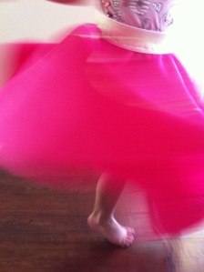 Not-so-still shot. A girls gotta twirl!